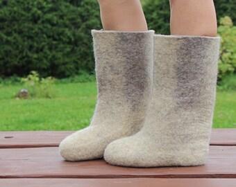 Felt boots Soviet vintage valenki Wool boots Felted boots Woolen boots Long woolen boots Handmade wool boots