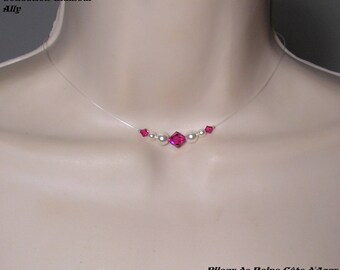 Wedding set pearls and Swarovski Collection Glamour necklace Ally 2 - MARIAGE CÉRÉMONIE ♥ ♥