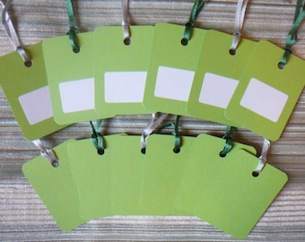 """TAGS x 12 pages """"Spring"""" theme for scrapbooking or gift tags"""