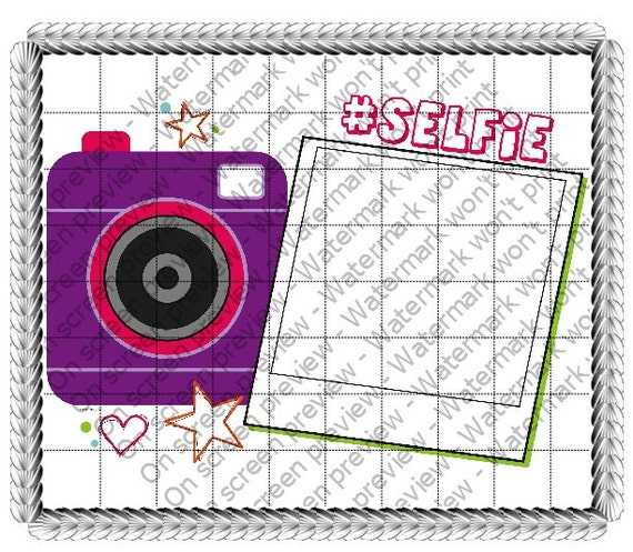 Camera #Selfie Birthday - Edible Cake and Cupcake Photo Frame For Birthdays and Parties! - D21053