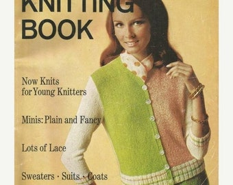 ON SALE 1960s Woman's Day Knitting Book Dresses Sweaters Suits Coats Jackets 80 pages Vintage Knitting Patterns Vintage Knitting Projects