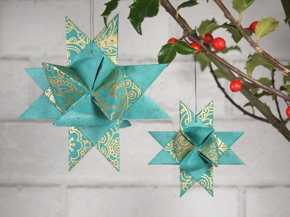 Turquoise with Gold Henna Hygge Danish Star