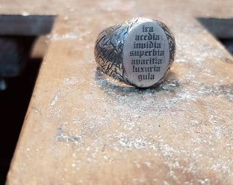 Silver inscription RING