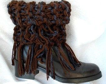 Fringed Knit Boot Cuffs, KNITTING PATTERN, Legwarmers,  for women and teens, Easy Beginner knitting, #885