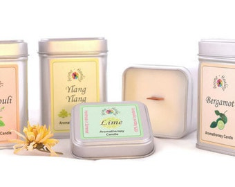 Woodwick crackling Candles | Wood Wick Candles | Natural Soy candles | Candles with a Wooden Wick | Aromatherapy Candles