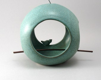 Ceramic Bird Feeder, Pottery Bird Feeder, Bird Pottery