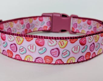 Candy Hearts Dog Collar / Valentine Dog Collar