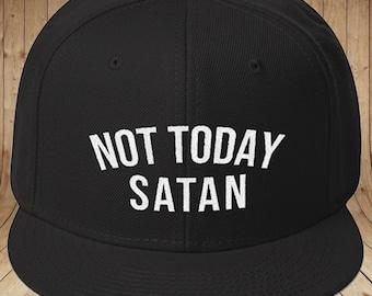 NOT TODAY SATAN Snapback Hat | Not Today Satan Hat | Great Gift Ideas