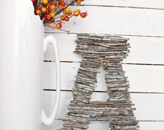 Twig Letter - Made to Order