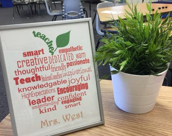 Teacher Appreciation Gift / End of the Year Gift / Teacher / Gift For Administrator / Teacher Display Poster / Classroom Decoration