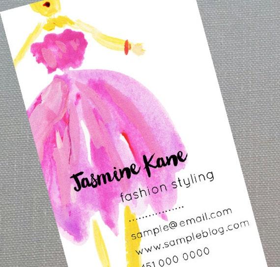 Fashion designerstylistunique business card set of 50 colourmoves