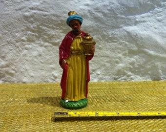 Vintage Christmas Figure, Crib Figures Decoration Xmas