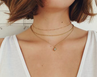 NIKITA - delicate gold necklace