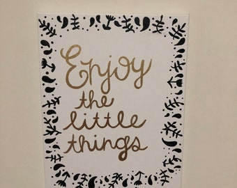Enjoy the little things canvas // sorority canvas // room decor canvas