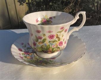 Richmond Bone China England teacup and saucer, Afternoon tea, Men's size