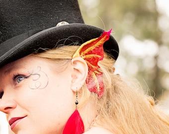Custom Fairy Ear Wings- 'Fearless Flight' jewellery ear cuffs, elf ears or dragon fin party or festival costume