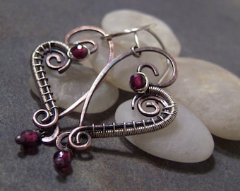 Tutorial for Rustic Heart Earrings.