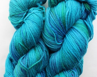 Out of Blue Comes Green Sock Yarn