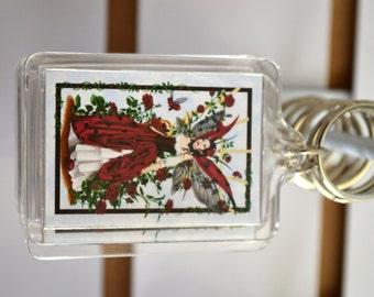 Ladybug Fairy Acrylic Key Chain - The Gardener
