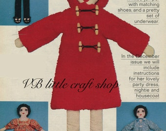 Adorable rag doll sewing pattern. Instant PDF download!