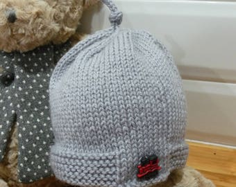 Red Train Pure Wool Baby Hat - 1849