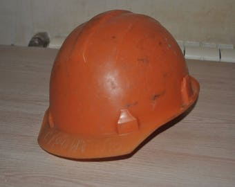 "Construction helmet. ""Builder"" of the USSR"