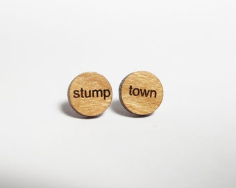 Stump town Mini Post Earrings