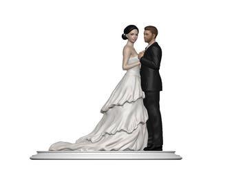 Wedding Cake Topper- FrillDpose