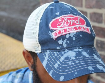 Custom Trucker Hat with Vintage Service Worker Patch
