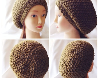 Honeycomb Slouchy Tam Crochet Pattern