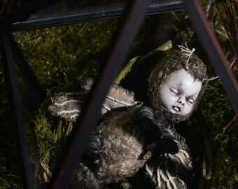Dark Mole  Fantasy art doll  Baby doll  Full set  holiday gift  OOAK  boho doll  decorative doll