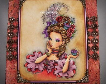 Marie Antoinette OOAK Handmade Mixed Media Wall Art