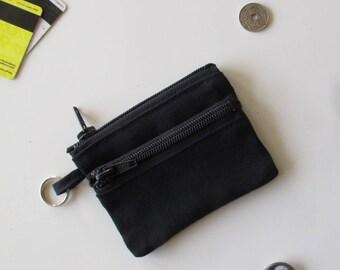 Slim wallet in black jeans/black jeans wallet