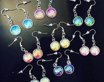 Fishscale earrings 3D Mermaid