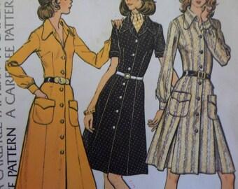 MAXI SHIRTDRESS Pattern • McCalls 3481 • Miss Half Size • Dog Ear Collar • Flared Dress • Sewing Pattern • Womens Patterns • WhiletheCatNaps