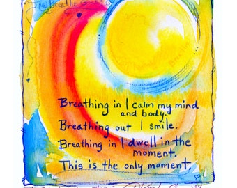 Painted Prayer No. 37 ...  art archival Spiritual print from original painting by Kathy Morton Stanion EBSQ