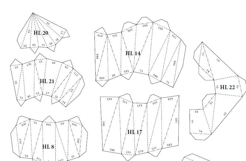 Printable DIY template (PDF). Deer head low poly paper model. 3D ...