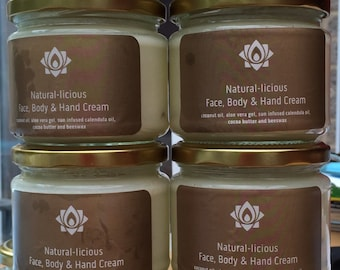 Coconut, aloe, calendula and cocoa butter face body and hand cream and hair mask 200g