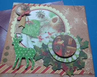 3D 863 hand made greeting card