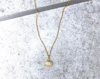 Dainty Gold Shell Charm | Beach Jewelry | Delicate Necklace | Gold Necklace | Layering | Memorial Day | Charm | Layering Necklace | Layered
