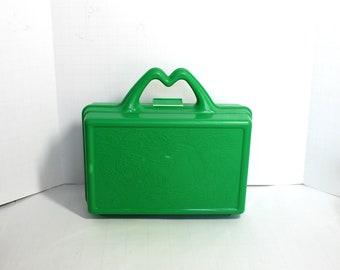 Green Plastic McDonald Lunchbox,McDonalds Lunch Box,McDonalds Pencil Box,McDonalds Toys,McDonalds Collectibles,Mcdonalds Display,McDonald