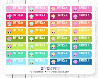 Kawaii Birthday Stickers Planner Stickers