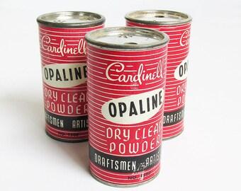 Mid Century Cardinell Opaline Dry Clean Powder Can, Drafting Powder, Eraser Powder