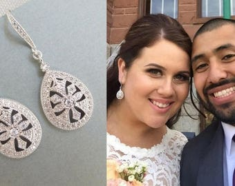 Rhinestone Bridal Earrings wedding rhinestone earrings rhinestone earrings bridal crystal earrings swarovski crystal earrings  LAUREN