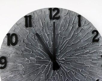 Gray Wall clock modern Home Decor Man Cave Clock Gray office wall decor unique wall clock 15.4 inch (39 cm) diameter