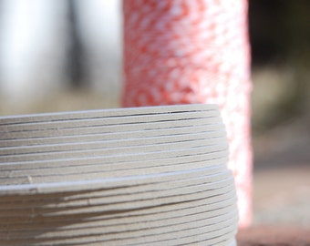 25 Blank 3.5 inch Round Coasters, heavyweight. Perfect for letterpress, crafts, etc