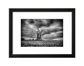Thaxted WIndmill, London, Black & White Print, Wall Art, Photography