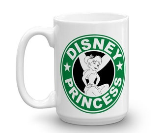 tinkerbell coffee mug - starbucks inspired mug - ceramic coffee cup - dishwasher safe coffee mug - starbucks mug