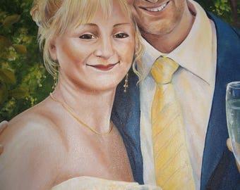 Custom portrait custom oil painting, oil on canvas Kim Normandin gift