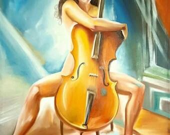 musician Painting, big oil painting,  oriental painting,  painting ,  wall art, oil painting,